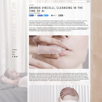 Amanda Vincelli, Cleansing in the Time of AI