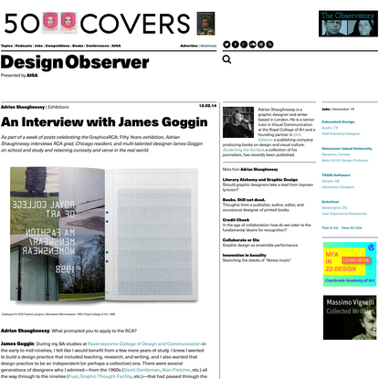 An Interview with James Goggin