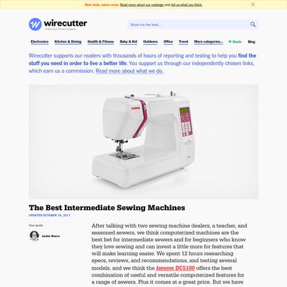 The Best Intermediate Sewing Machines