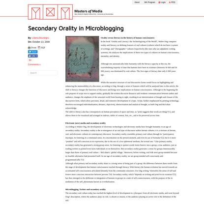 Secondary Orality in Microblogging