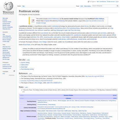 Postliterate society - Wikipedia