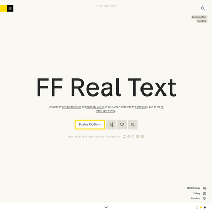 FF Real Text