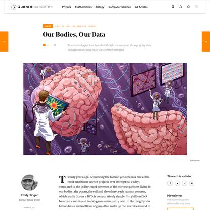 Biology Confronts Data Complexity   Quanta Magazine