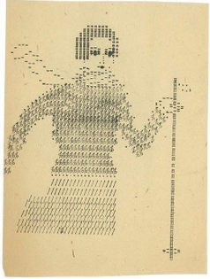Russian typewriter art from the 1930′s m...