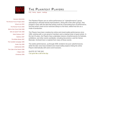 Plaintext Players