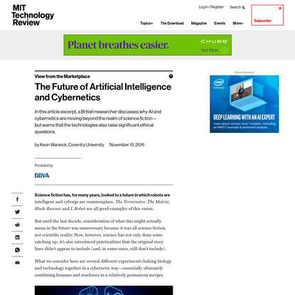 The Future of Artificial Intelligence and Cybernetics