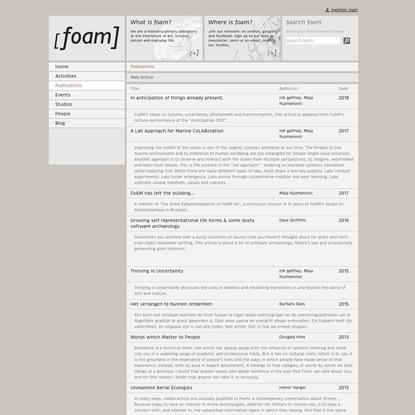 Publications [FoAM]