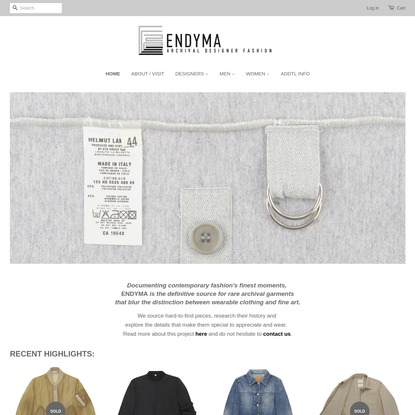 ENDYMA - Archival designer fashion