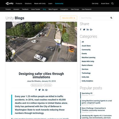 Designing safer cities through simulations - Unity Blog
