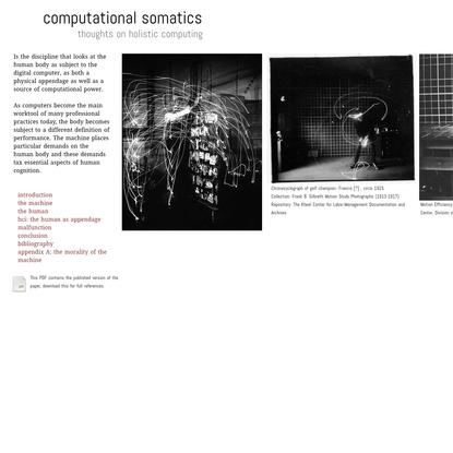 computational somatics