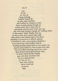 XLV by E.E. Cummings, XLI Poems, 1925