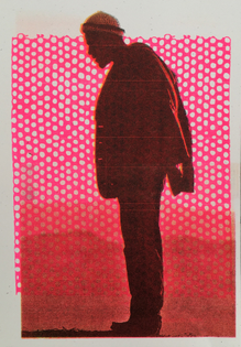 Marvin Gaye photo by Anne Leibovitz as  4 color risograph print