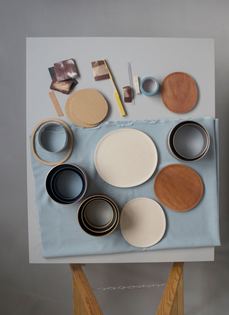 Material exploration still life by Cecilie Manz