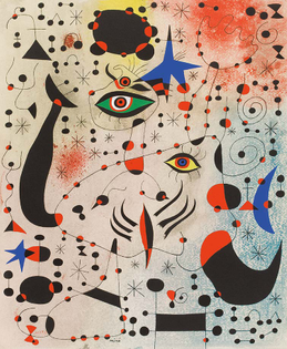 "MIRÒ, ""CIPHERS AND CONSTELLATIONS, IN LOVE WITH A WOMAN"" 1941"