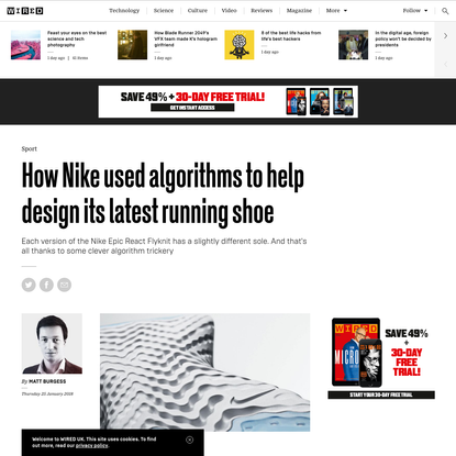 How Nike used algorithms to help design its latest running shoe