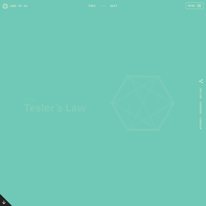 Tesler's Law | Laws of UX