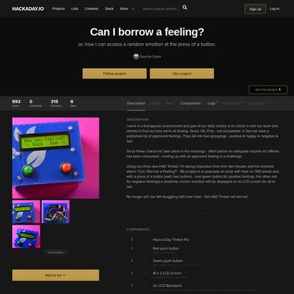 Can I borrow a feeling?