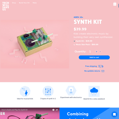Synth Kit - Science Toys For Kids - Build Your Own Synthesizer