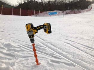 DeWALT Drill in Snow