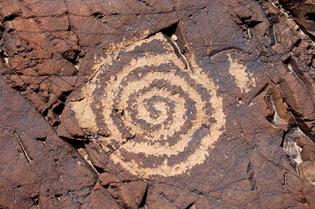 Chuckwalla Spring spiral petroglyph