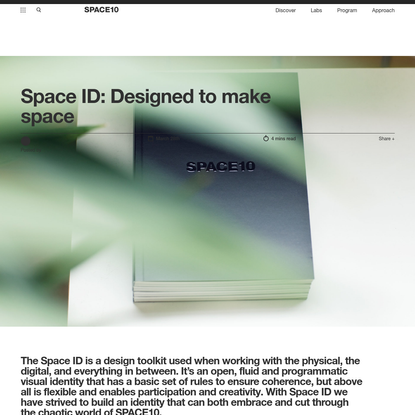 Space ID: Designed to make space - SPACE10
