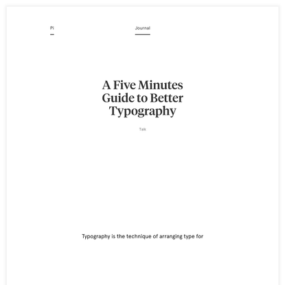 A Five Minutes Guide to Better Typography - Pierrick Calvez