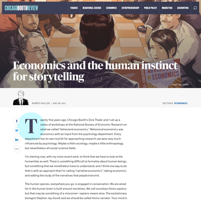 Economics and the human instinct for storytelling