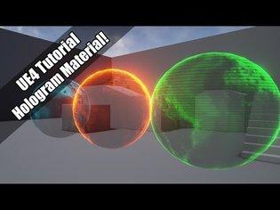 UE4 - Tutorial - Hologram Material! (Request!)