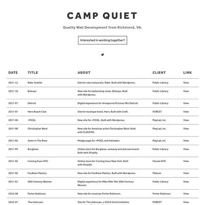 Camp Quiet - MADE IN VIRGINIA