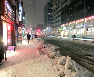 Yonge snow + light