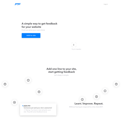 Prps.me - A simple, beautiful feedback tool for your site