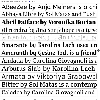 ♀ LIBRE FONTS BY WOMXN