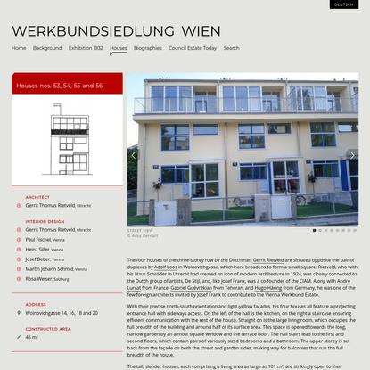 Houses nos. 53, 54, 55 and 56 - Werkbundsiedlung Wien