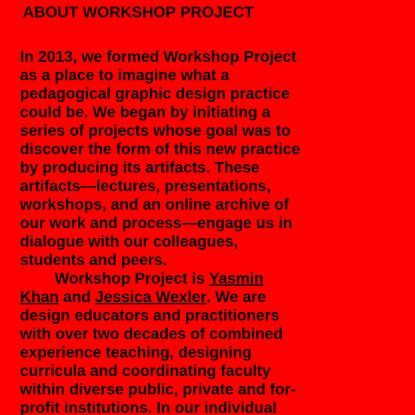 workshop project: a pedagogical graphic design practice