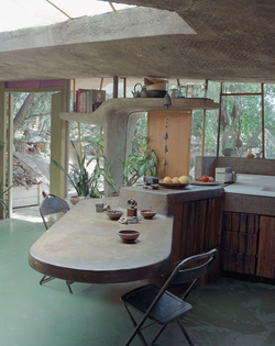 Russel Wright's Handmade Rock Home in New York, 1950