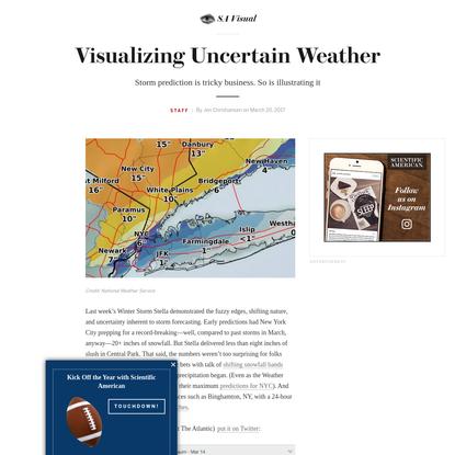 Visualizing Uncertain Weather