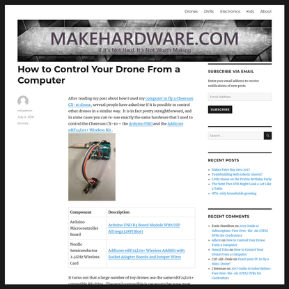 How to Control Your Drone From a Computer