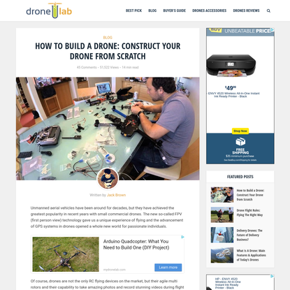 How to Build a Drone: DIY Project for Constructing a Drone from Scratch