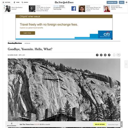 Opinion | Goodbye, Yosemite. Hello, What?