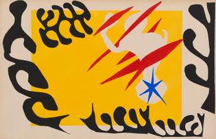 Le Cauchemar de l'éléphant blanc (from Jazz) - Henri Matisse, 1947