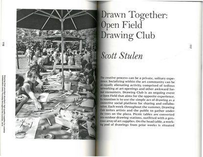 Drawn Together : Open Field Drawing Club - Scott Stulen (from Open Field: Conversations on the Commons)