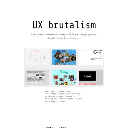 UX brutalism