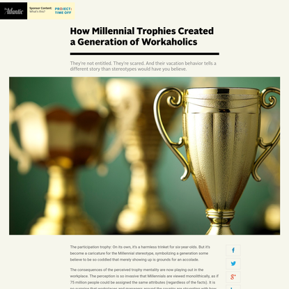 How Millennial Trophies Created a Generation of Workaholics