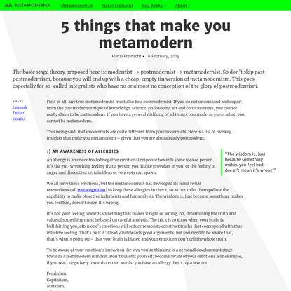 5 things that make you metamodern