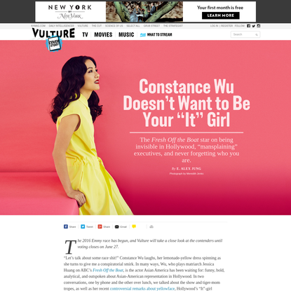 """Constance Wu Doesn't Want to Be Your """"It"""" Girl"""