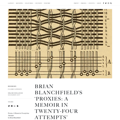 Brian Blanchfield's 'Proxies: A Memoir in Twenty-four Attempts' - The White Review