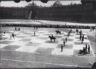 Human scaled chess Leningrad ca. 1924