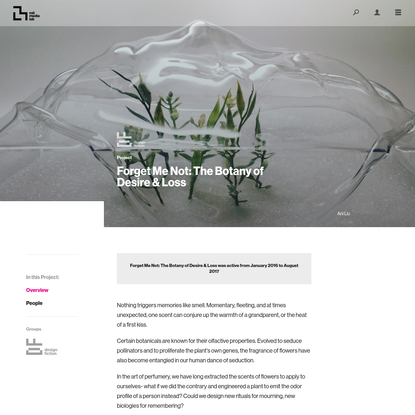 Project Overview ‹ Forget Me Not: The Botany of Desire & Loss - MIT Media Lab