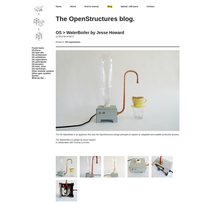 OS > WaterBoiler by Jesse Howard - The OpenStructures blog.