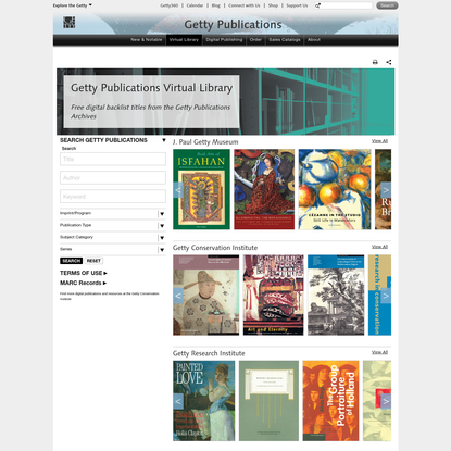 Virtual Library (Publications Getty)